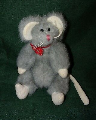Squeaky the Gray Mouse   TY Attic Treasures   Retired 1993 Plush Stuffed  Animal df7613339003