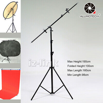 1.9M Tripod+Extending Stick Arm For Reflector Backdrop Background Photography