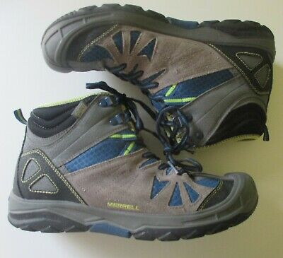ed2ce07c60a MERRELL CAPRA MID WTPF Waterproof Hiking Boots Boys Size 6 US 37 EU Leather  Grey