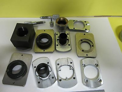 Microscope Pièce Lot Objectif Support Zeiss Allemagne Optiques Tel Quel Bin #