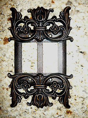 Metal, Double Rocker, Switch Plate, Cover, Old World, Handmade, Tuscan, Medieval
