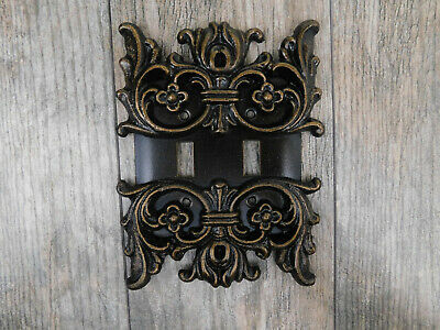 Metal, Double, Light Switch, Plate, Cover, Old World, Tuscan, Medieval, French