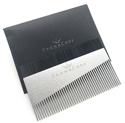 Beard Comb & Brush Men | Wallet Pocket Travel Size Aluminum Silver Mustache Comb