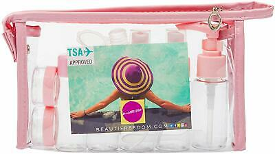 Airline Refillable Travel Bottles Set, TSA Approved - Leak Proof, Coral Pink