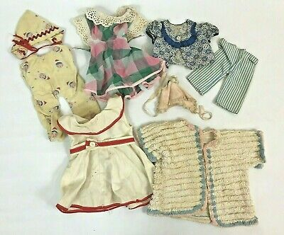 Vintage Doll Clothes 1950s Lot Various Sizes Dress Shirt Pants Chenille Jacket
