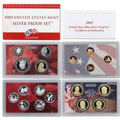 2009 United States US Mint Silver Proof 18 Pc Set In Mint Packaging SKU22136