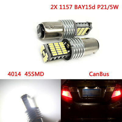 2 x 1157 BAY15d P21/5W 45SMD CanBus No erreur LED Tail Stop ampoules feux stop