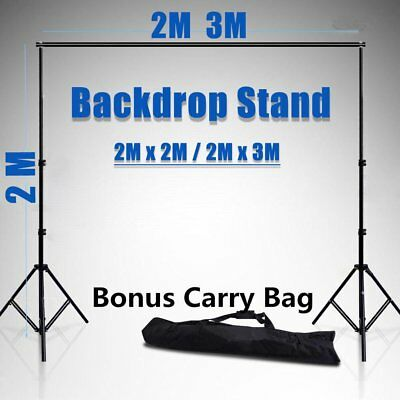 Photography Studio Heavy Duty Backdrop Stand Screen Background Support Kit S4