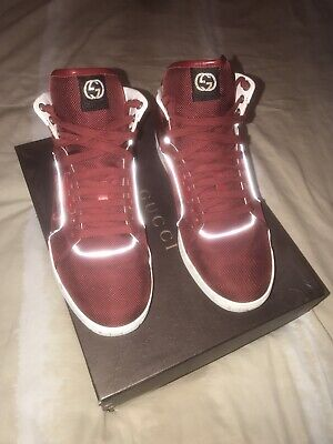 fcf7fcee258 GUCCI MEN SNEAKERS Size 11 High Top Red Rare -  225.00