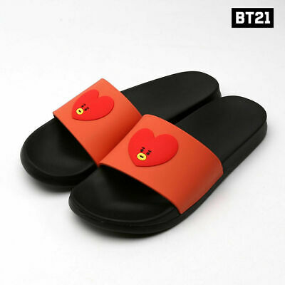 803a4048ef63 BTS BT21 LINE Friends Official Goods TATA Character Face Silicone Slipper  Gift -  30.99