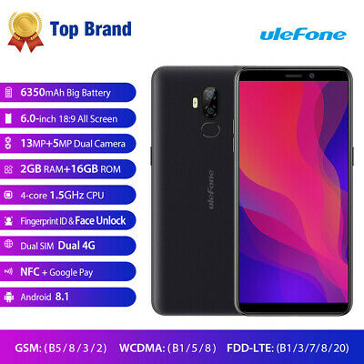 Ulefone Power 3L 6.0 Inch Dual HD Camera Android 8.1 2G+16G GPS 3G Smart Phone