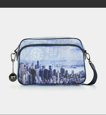 Y NOT BORSA A TRACOLLA BLUE MANHATTAN NY INSTANT BLU Outlet in saldo ... 6ea31c71374