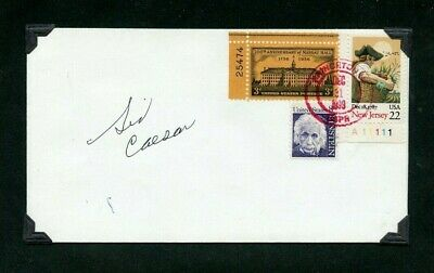 Autographed First Day Cover TV Funnyman & Legendary Comedian Sid Caesar