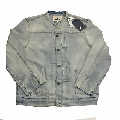 4395e277a4 NWT Levi's Made & Crafted Men's Destructed Denim Trucker Jacket Sz 3 Large L
