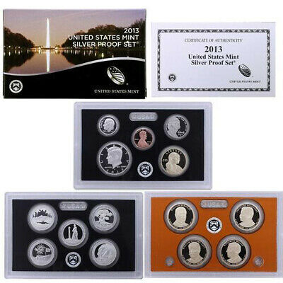 2013-S United States Mint SILVER PROOF SET 14-Coins w/Box + COA