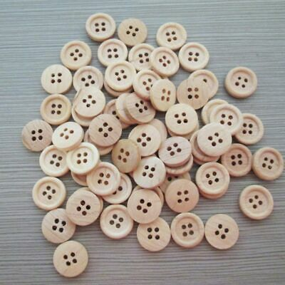 DIY pattern Wood Buttons 4 Holes Sewing 15mm 18mm 25mm Craft Lots 50pcs