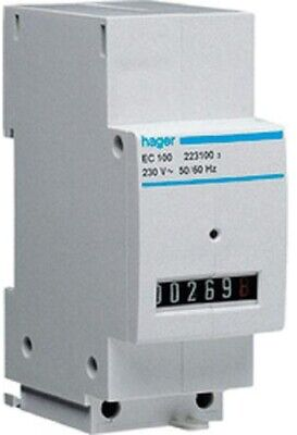 Hager HOUR RUN METER HAGEC100 250V Direct Connection, DIN Rail *German Brand