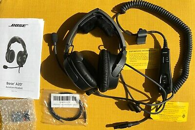 Bose A20 Aviation Headset, standard 6-pin plug cable, without bluetooth