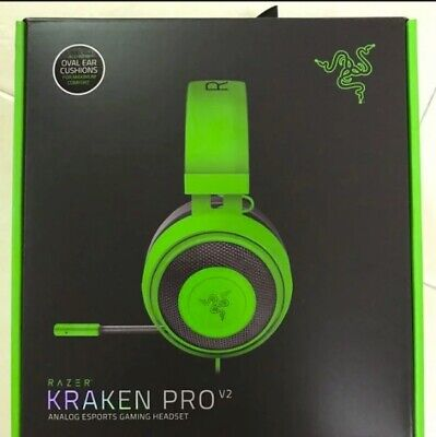 Brand New Razer Kraken PRO V2 Gaming Headset Oval Black Over-Ear Headphones