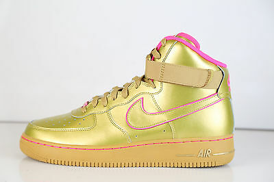 Af1 1 Id Pink High Metallic 10 Premium Force Nike Air Sz Gold j5q4AR3L
