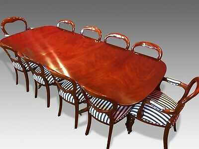 Designer George Iii Style Brazilian  Mahogany Table Set, Pro French Polished