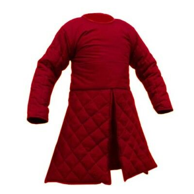 Beautiful Red Medieval Renaissance Full Sleeves Gambeson in SCA LARP