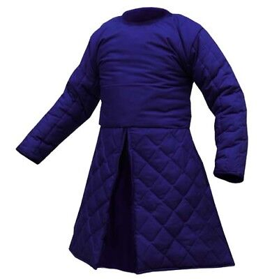 Medieval Renaissance Full Sleeves Gambeson in Blue SCA-LARP Beautiful