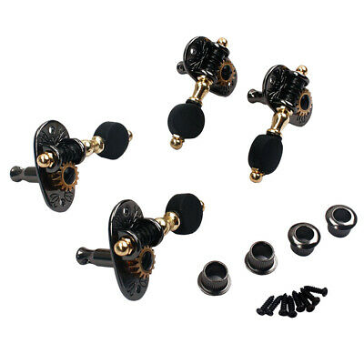 4-String Guitar Replacement 2R2L Tuning Peg Tuners Machien Heads for Ukulele