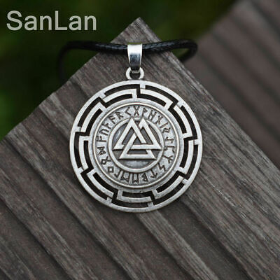 Art Norse Vikings Amulet Pendant Necklace Thor Odin Pagan Gods Heathen Jewelry