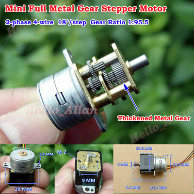 15MM 2-phase 4-wire Mini Precision Full Metal Gearbox Gear Stepper Motor Robot