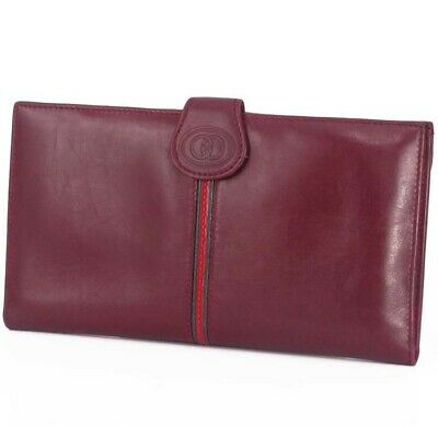 358b0be978b8 GUCCI VINTAGE LEATHER Card Case Wallet -  49.00