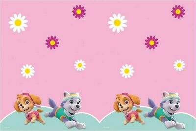 Paw Patrol Childrens Party Tablecover Table Cover Cloth Plastic Pink Girls