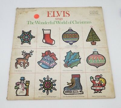 Elvis Presley LP Sings The Wonderful World Of Christmas Record Christmas Album