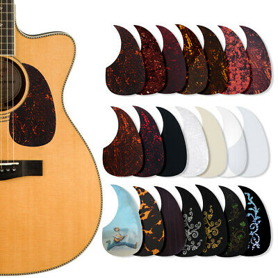 Adhesive PVC Acoustic Guitar Pickguard  Soft Scratch Plate 0.5mm Thickness