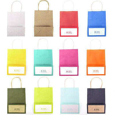 Bright Coloured Paper Party Gift Bag with Handles Recyclable Birthday Christmas
