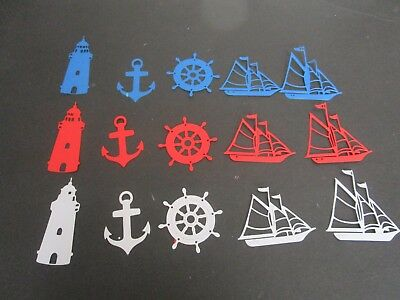Die Cuts 15 Pieces  Ships & Nautical Cardstock