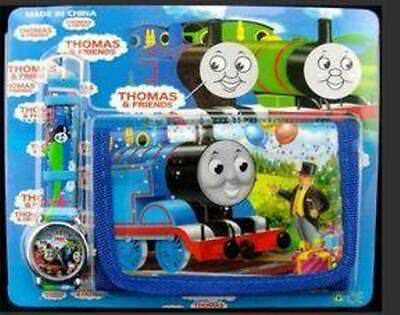 Thomas The Tank Engine Boys' Kids' Trendy Birthday Watch & Wallet Gift Set