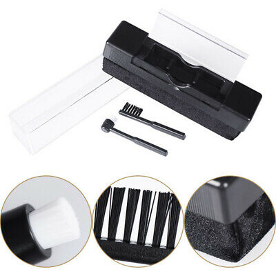 New 2in1 Vinyl Record Cleaning Brush Stylus Velvet Anti-static Cleaner Kit AU
