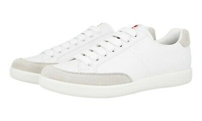 a65d4b26cf30 AUTH LUXURY PRADA Americas Cup Sneakers Shoes Ps0906 White Us 9.5 Eu ...