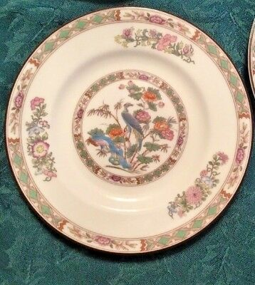 "Lot of 8 Wedgwood KUTANI CRANE Fine China Bread & Butter 6-1/8"" plates"