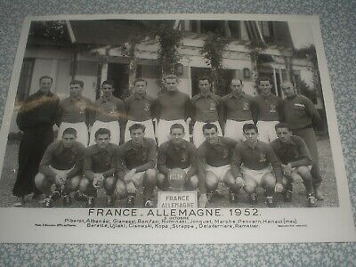 photo football EQUIPE FRANCE x ALLEMAGNE 1952