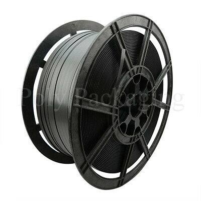 Black Hand Pallet Strapping Coils (12mmx1000m) Heavy Duty 310kg Brake
