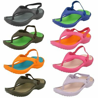 Childrens Slip On Unisex Crocs Toe Post Sandals Athens Strap