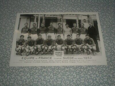 photo football EQUIPE FRANCE x SUEDE 1952