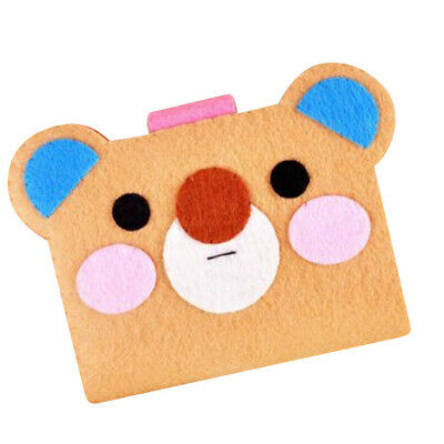 Cute Bear Card Bag Holder Non-woven Fabric Felt Applique Kits for DIY Craft