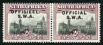 South West Africa SG011a 1929 2d Official Variety No Stop After OFFICIAL M/M