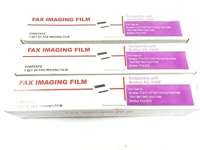 for Brother T72 T84 T86 T94 T96 T98 Fax Compatible Imaging Ink Film Rolls Qty 3