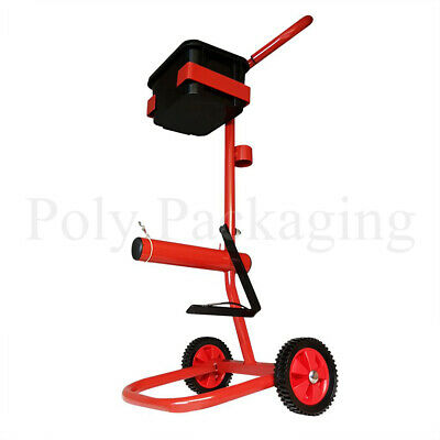 Hand Pallet STRAPPING TROLLEY STAND with Wheels Mobile Tool Dispenser Holds