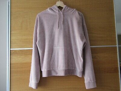 Trendy Top Shop girls/ladies pale pink hooded top UK 8 Front pkt good condition