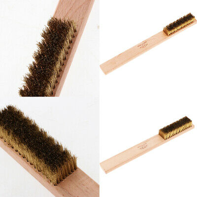 Brass Wire Brush with Wood Handle Soft Bristle Rust Paint Dirt Removal Tools